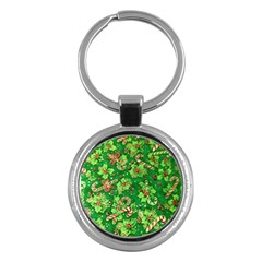 Green Holly Key Chains (Round)