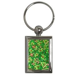 Green Holly Key Chains (Rectangle)