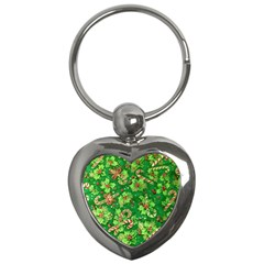 Green Holly Key Chains (Heart)