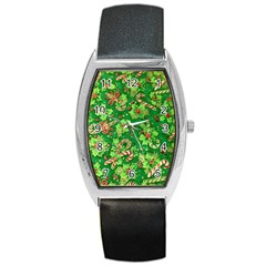 Green Holly Barrel Style Metal Watch