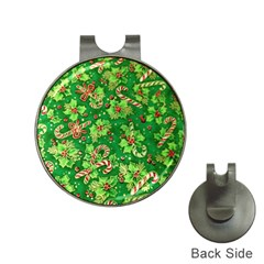 Green Holly Hat Clips with Golf Markers