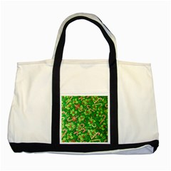 Green Holly Two Tone Tote Bag