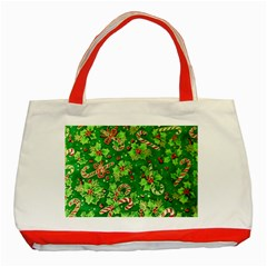Green Holly Classic Tote Bag (Red)