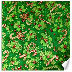 Green Holly Canvas 12  x 12