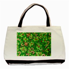 Green Holly Basic Tote Bag (Two Sides)