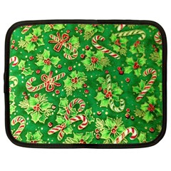 Green Holly Netbook Case (Large)