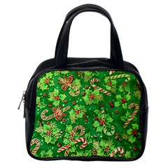 Green Holly Classic Handbags (One Side)