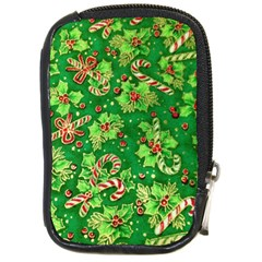 Green Holly Compact Camera Cases