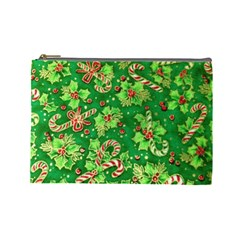 Green Holly Cosmetic Bag (Large)