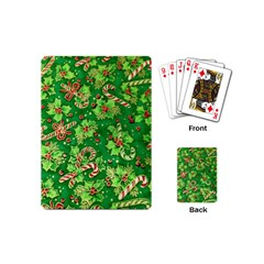 Green Holly Playing Cards (mini)