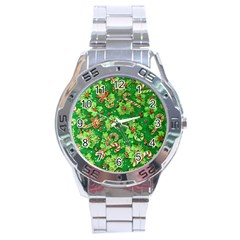 Green Holly Stainless Steel Analogue Watch