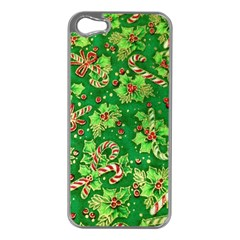 Green Holly Apple Iphone 5 Case (silver)