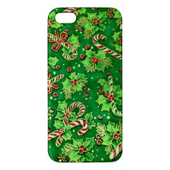 Green Holly Apple iPhone 5 Premium Hardshell Case