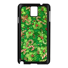 Green Holly Samsung Galaxy Note 3 N9005 Case (Black)