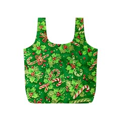 Green Holly Full Print Recycle Bags (s)