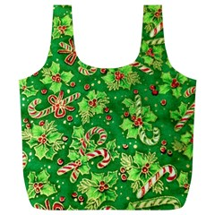 Green Holly Full Print Recycle Bags (l)