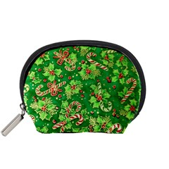 Green Holly Accessory Pouches (small)