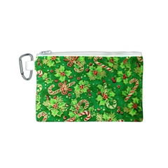 Green Holly Canvas Cosmetic Bag (S)