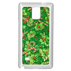 Green Holly Samsung Galaxy Note 4 Case (white)