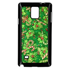 Green Holly Samsung Galaxy Note 4 Case (Black)