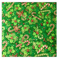 Green Holly Large Satin Scarf (Square)