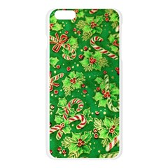 Green Holly Apple Seamless iPhone 6 Plus/6S Plus Case (Transparent)