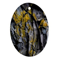 Grey Yellow Stone  Ornament (oval)