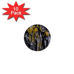 Grey Yellow Stone  1  Mini Buttons (10 pack)