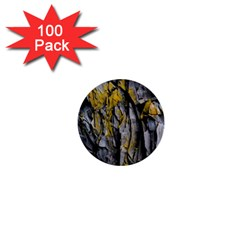 Grey Yellow Stone  1  Mini Buttons (100 pack)