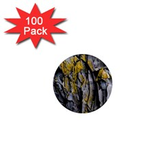 Grey Yellow Stone  1  Mini Magnets (100 Pack)