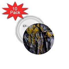 Grey Yellow Stone  1.75  Buttons (10 pack)