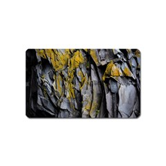 Grey Yellow Stone  Magnet (Name Card)