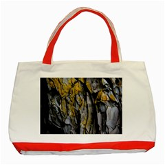 Grey Yellow Stone  Classic Tote Bag (Red)