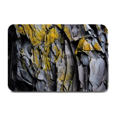 Grey Yellow Stone  Plate Mats