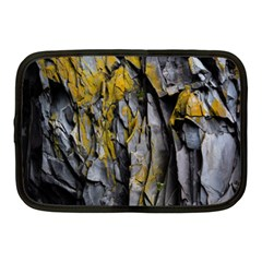 Grey Yellow Stone  Netbook Case (Medium)