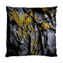 Grey Yellow Stone  Standard Cushion Case (Two Sides)