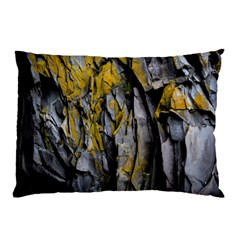 Grey Yellow Stone  Pillow Case
