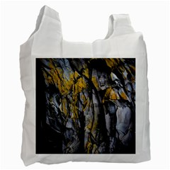 Grey Yellow Stone  Recycle Bag (Two Side)