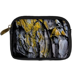 Grey Yellow Stone  Digital Camera Cases