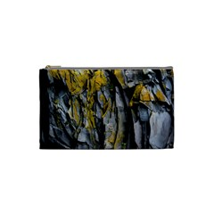 Grey Yellow Stone  Cosmetic Bag (small)