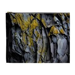 Grey Yellow Stone  Cosmetic Bag (XL)