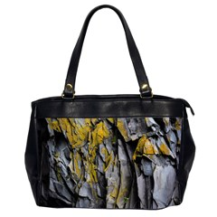 Grey Yellow Stone  Office Handbags (2 Sides)