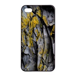 Grey Yellow Stone  Apple iPhone 4/4s Seamless Case (Black)