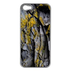 Grey Yellow Stone  Apple Iphone 5 Case (silver)