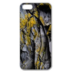 Grey Yellow Stone  Apple Seamless iPhone 5 Case (Clear)