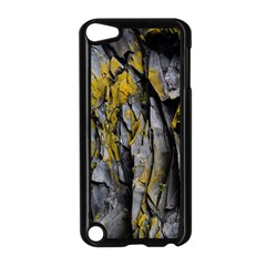 Grey Yellow Stone  Apple Ipod Touch 5 Case (black)