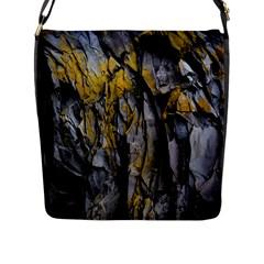 Grey Yellow Stone  Flap Messenger Bag (l)