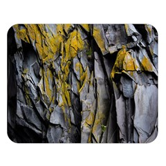 Grey Yellow Stone  Double Sided Flano Blanket (Large)
