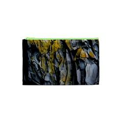 Grey Yellow Stone  Cosmetic Bag (xs)