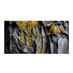 Grey Yellow Stone  Satin Wrap
